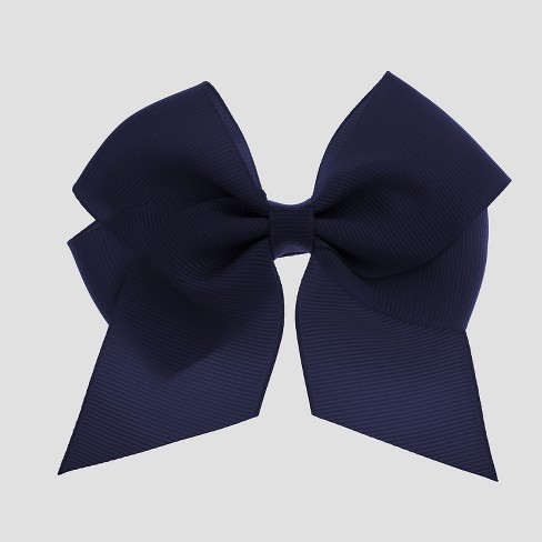Girls' Bow Metal Snap Clip - Cat & Jack™ Navy - image 1 of 3