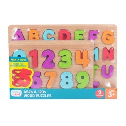 Chuckle & Roar 2pk Wood Puzzles - ABC's & 123s