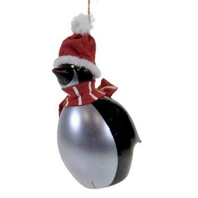 """Italian Ornaments 6.0"""" Large Penguin With Scarf Christmas Ornament Bird  -  Tree Ornaments"""