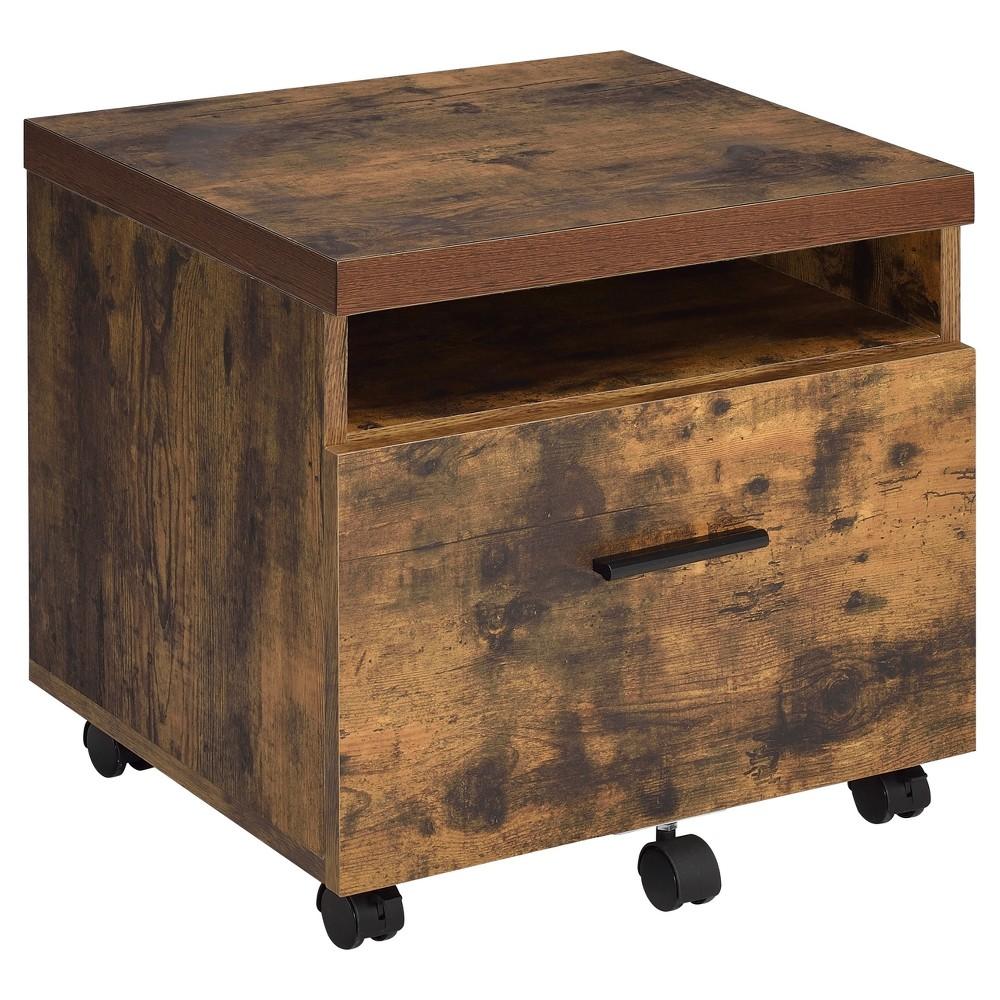 1 Drawer File Cabinet Oak - Acme Furniture, Weathered Oak