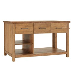 Edgar Reclaimed Wood Extendable Kitchen Island - Inspire Q