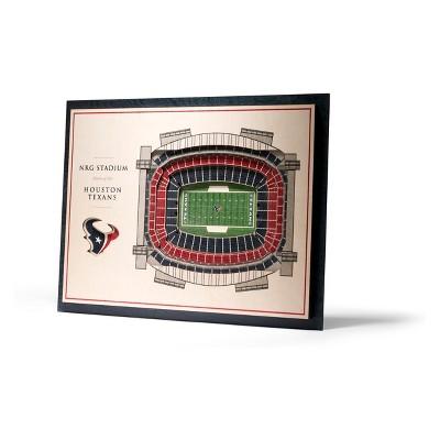 NFL Houston Texans 5-Layer Stadiumviews 3D Wall Art