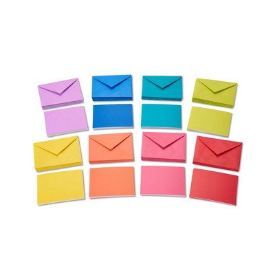 200ct Rainbow Blank Note Cards And Envelopes