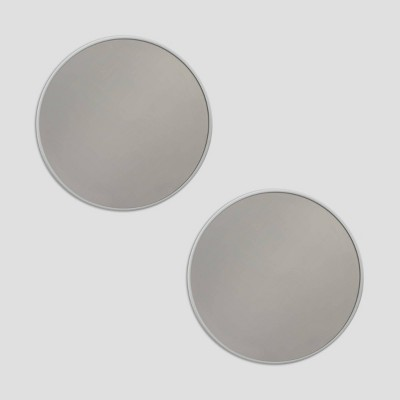 2pk Silver Mirrors - Bullseye's Playground™