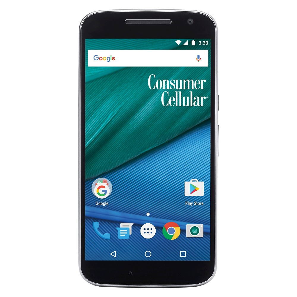 Consumer Cellular Moto G4 16GB Smartphone - Black Get a great phone that has lots of features with this Consumer Cellular Moto G4. Android operating system gives you access to thousands of apps. Color: Black.