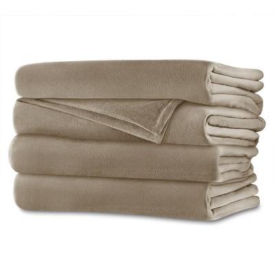Velvet Plush Electric Heated Blanket (Full)Mushroom - Sunbeam