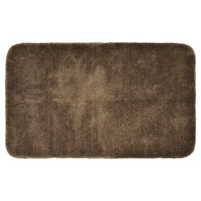 "30""x50"" Finest Luxury Ultra Plush Washable Nylon Bath Rug Chocolate - Garland"