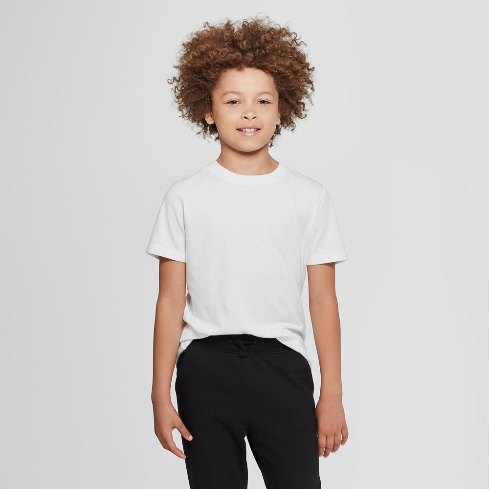 Image of petiteBoys' Short Sleeve T-Shirt - Cat & Jack White L, Boy's, Size: Large