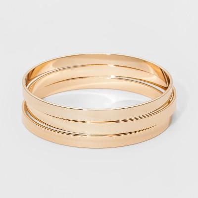 Bangle Bracelet 3pc - A New Day™ Gold
