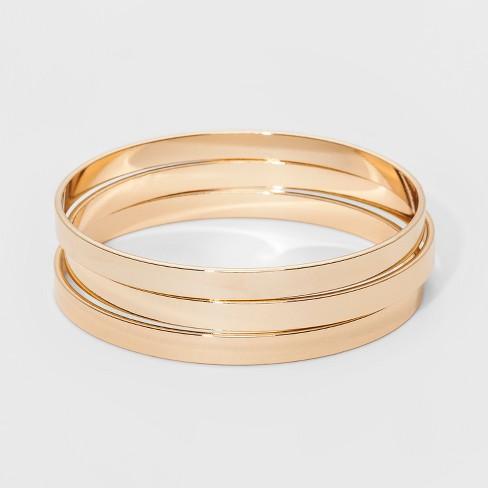 Bangle Bracelet 3pc - A New Day™ Gold - image 1 of 1