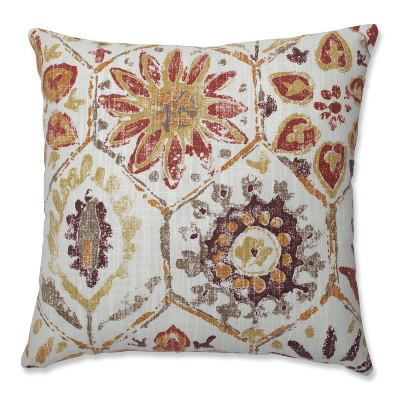 """16.5""""x16.5"""" Antique Stone Spice Square Throw Pillow Purple - Pillow Perfect"""