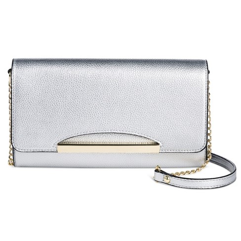 Clutch - A New Day™ Silver Metallic - image 1 of 3