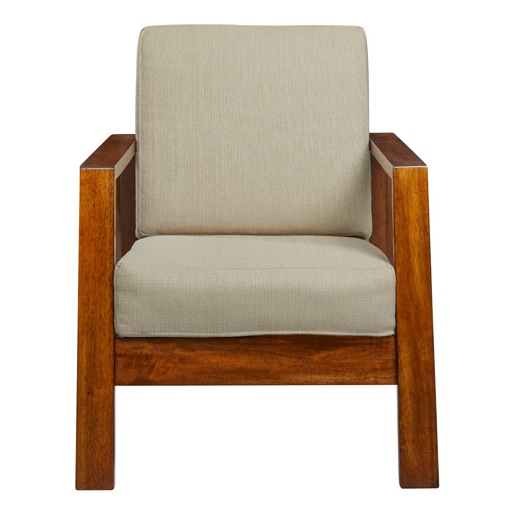 Carlyle Mid Century Modern Arm Chair - Barley (Brown) Tan- Handy Living