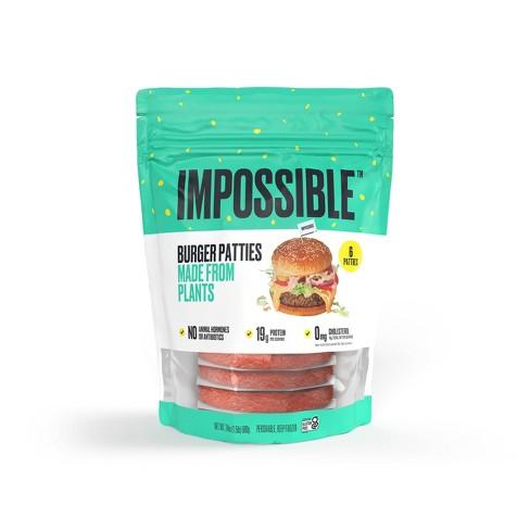 Impossible Burger Patties - Frozen - 1.5lbs/6ct - image 1 of 4