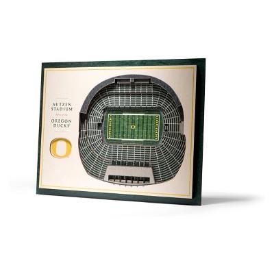 NCAA Oregon Ducks 5-Layer StadiumViews 3D Wall Art