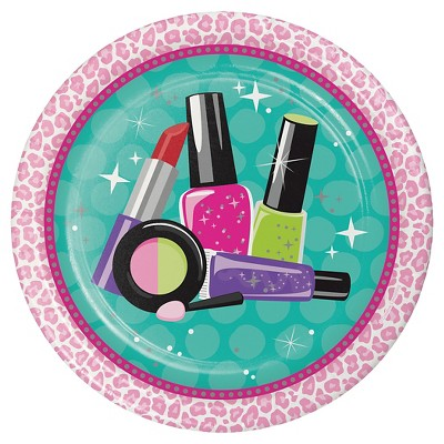 "Sparkle Spa Party Icon 9"" Paper Plates - 8ct"
