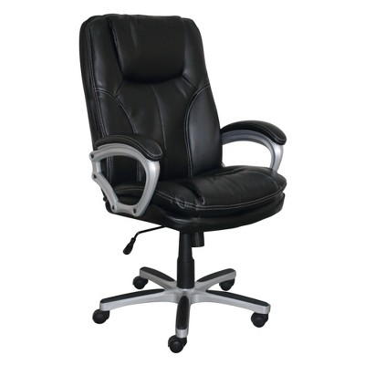 Executive Big & Tall Puresoft Faux Leather Office Chair Black - Serta