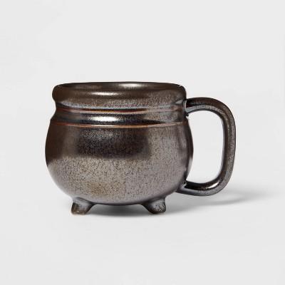 9.8oz Stoneware Cauldron Mug Black - Threshold™