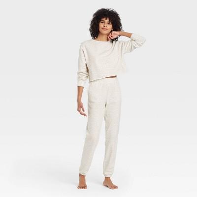 Women's Leopard Print Fleece Lounge Sweatshirt - Colsie™ White