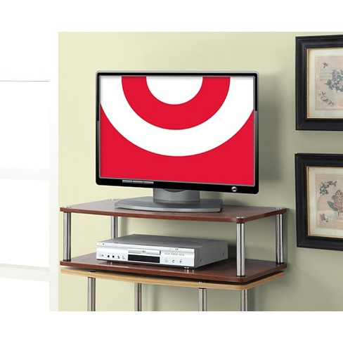 Two Tier Swivel Tv Stand Cherry 32 Convenience Concepts Target