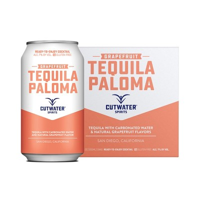 Cutwater Grapefruit Tequila Paloma Cocktail - 4pk/12 fl oz Cans