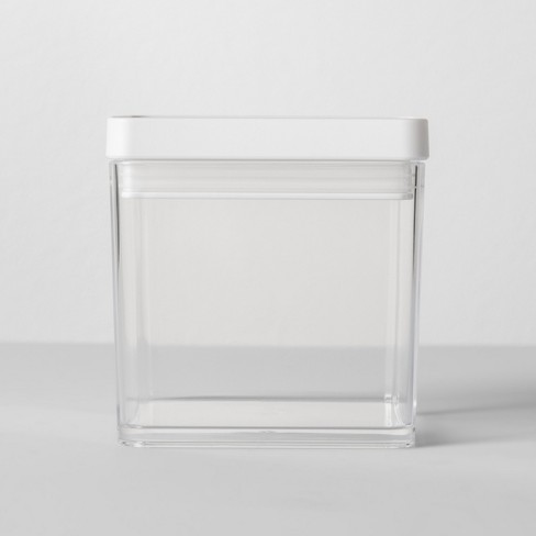 """4""""W X 4""""D X 4""""H Plastic Food Storage Container Clear - Made By Design™ - image 1 of 4"""