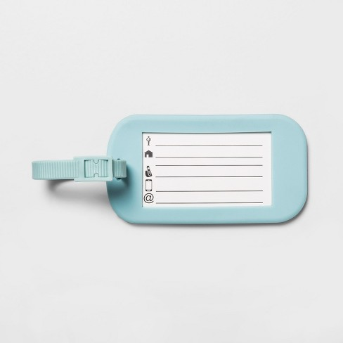 Clear Luggage Tag 1pc - Made By Design™ - image 1 of 3
