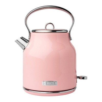 Heritage 1.7 Lt Stainless Steel Electric Kettle with Auto Shut-Off - Pink