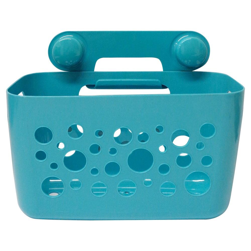 InterDesign Suction Shower Basket, Blue