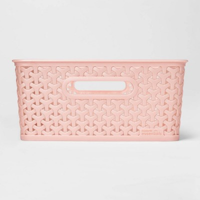 Y Weave Medium Rectangle Storage Bin Bin Pink - Room Essentials™