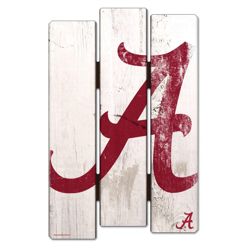 NCAA Alabama Crimson Tide Fence Wall Sign