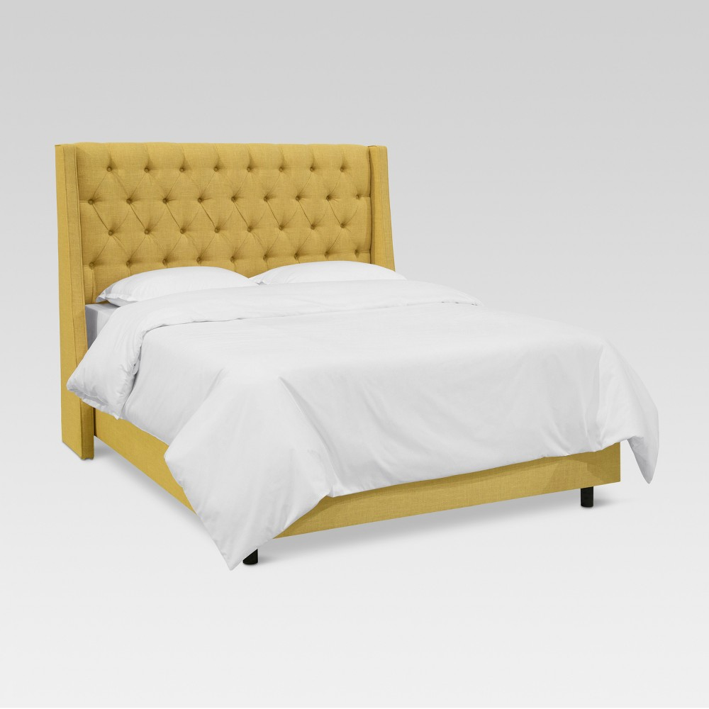 Gilford Tufted Wingback Bed Full Zuma Golden Threshold 8482