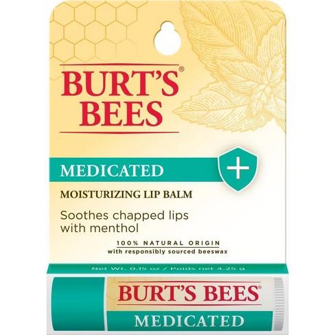 Burt's Bees Medicated Moisturizing Lip Balm - 0.15oz - image 1 of 4