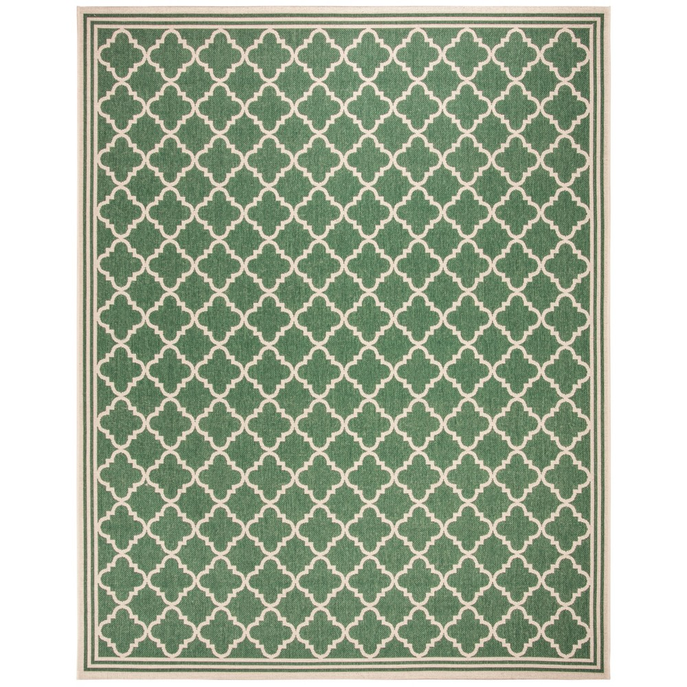 9'X12' Quatrefoil Design Loomed Area Rug Green/Cream (Green/Ivory) - Safavieh