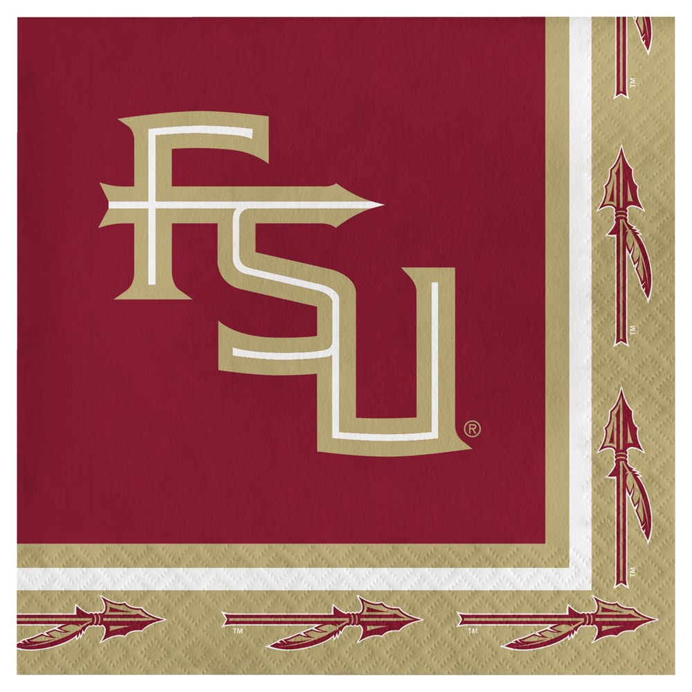 Image of 20ct Florida State Seminoles University Napkins