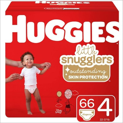 Huggies Little Snugglers Diapers - Size 4 (66ct)