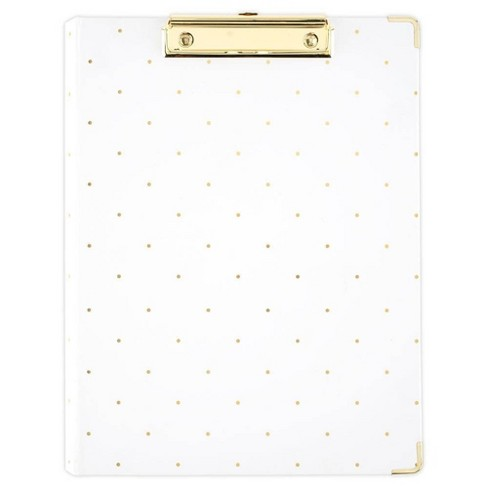 Clipfolio with Removable Legal Pad White with Gold Dots - Sugar Paper - image 1 of 4