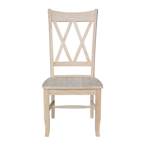 Set Of 2 Double X Back Chair Unfinished International Concepts Target
