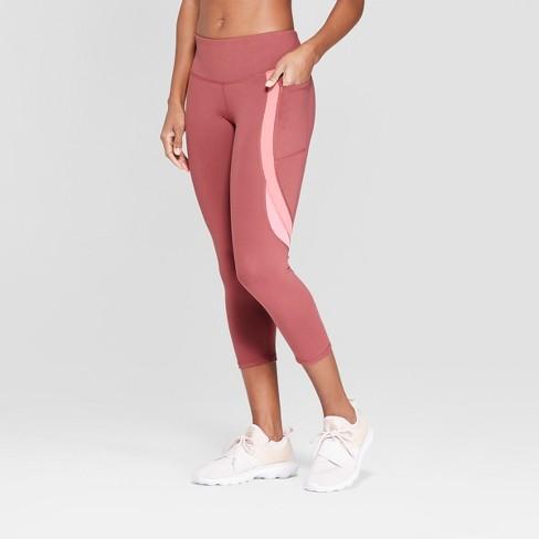 """Women's C9 Champion® Studio Mid-Rise Colorblock Capris Leggings 20"""" - image 1 of 2"""