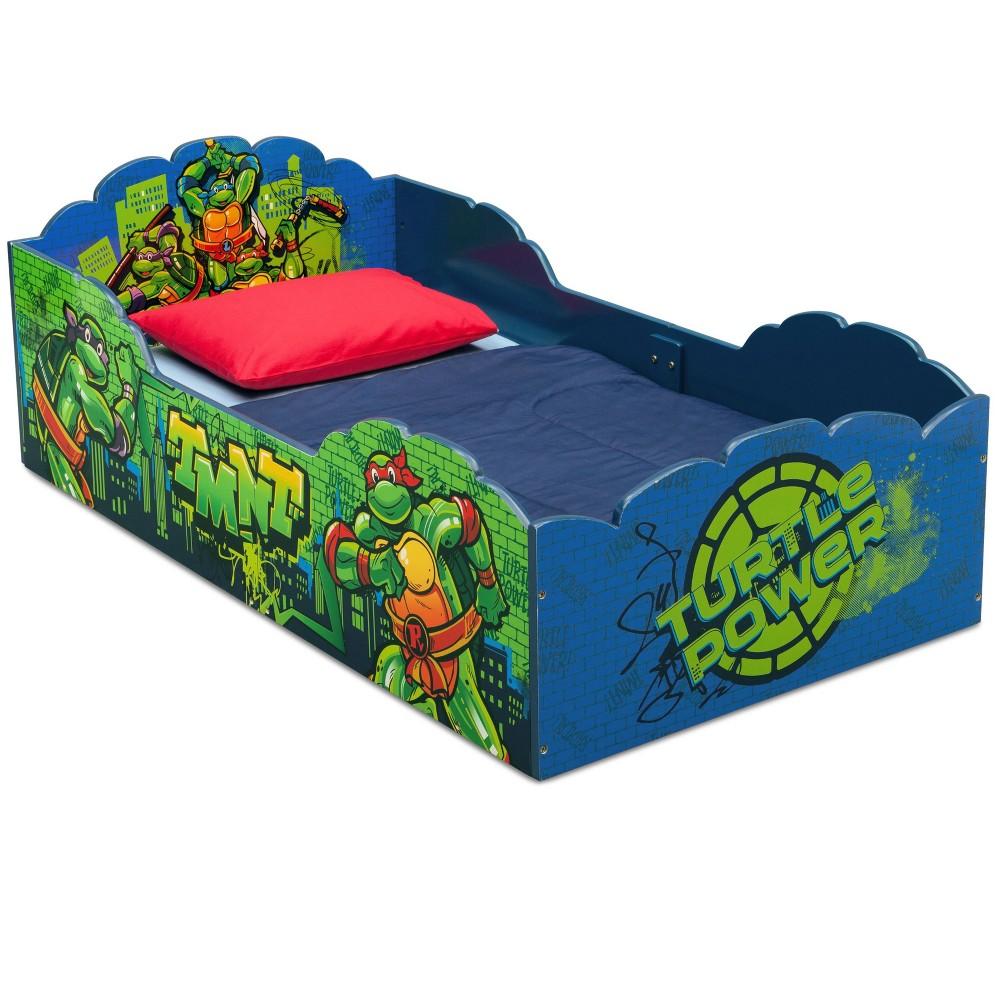 Image of Toddler Teenage Mutant Ninja Turtles Wood Bed - Delta Children