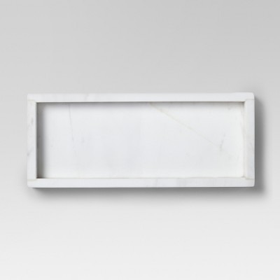 Small Rectangle Serving Tray Marble White - Threshold™