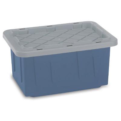 Homz® EcoStorage 15 Gal Tough Tote, Blue/Grey
