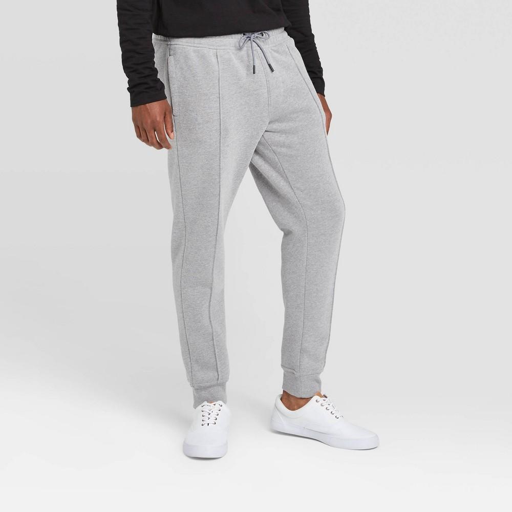 Men 39 S Pintuck Fleece Jogger Pants Goodfellow 38 Co 8482 Gray Xs