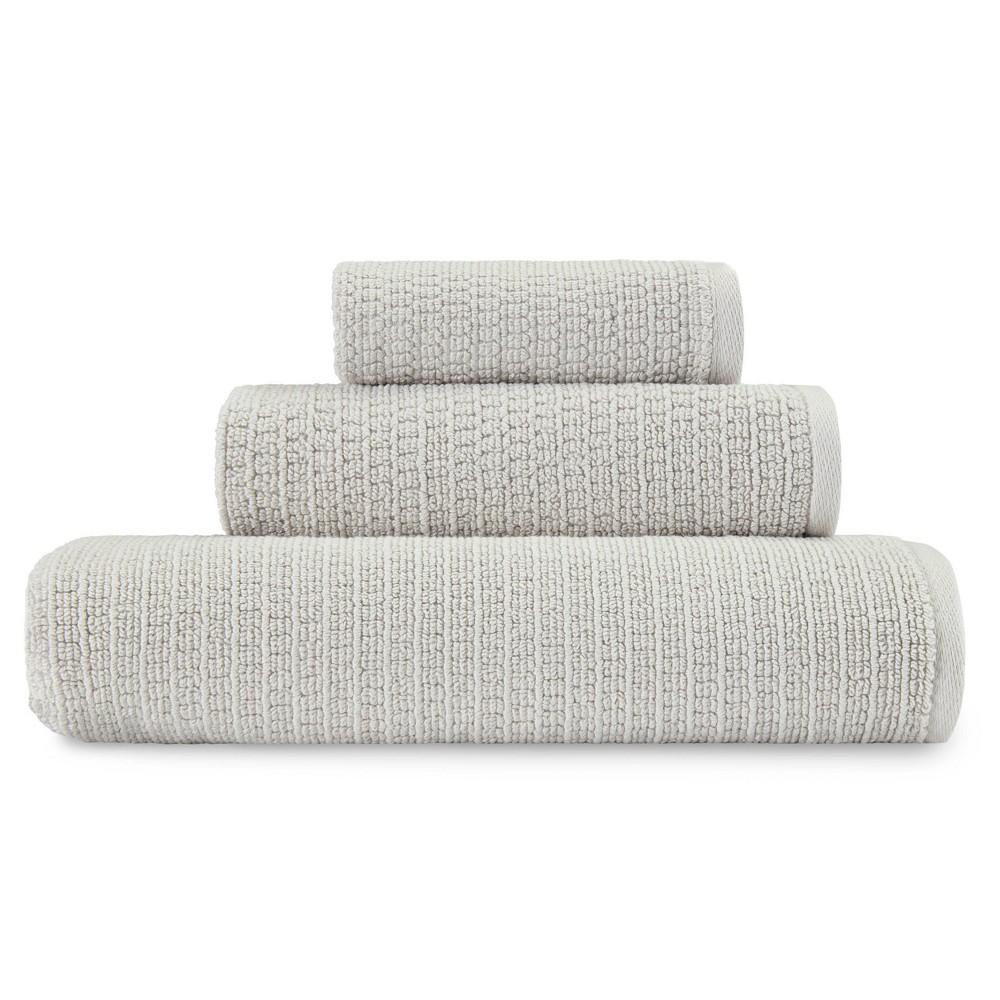 Image of 3pc Joy Towel Set Solid Gray - ED by Ellen DeGeneres