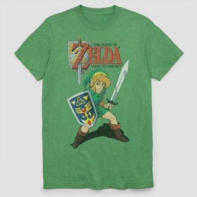 Men's The Legend of Zelda Short Sleeve Graphic T-Shirt - Green Heather M