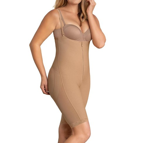 Leonisa firm compression strapless bodysuit for women with tummy control - Waist to knee shapewear - image 1 of 3