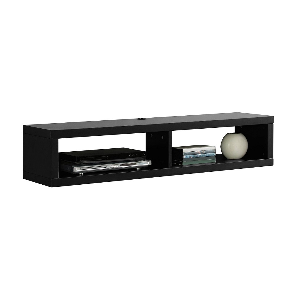 "Image of ""48"""" Wall Mounted Media Console Black - Martin Furniture, Size: 48"""""""