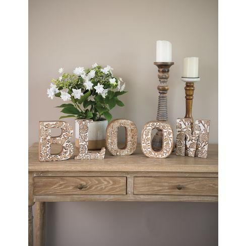Bloom Carved Wood Letters - Gardener's Supply Company - image 1 of 1
