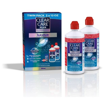 Clear Care Plus with Hydraglyde Contact Lens Solution for Soft Lenses