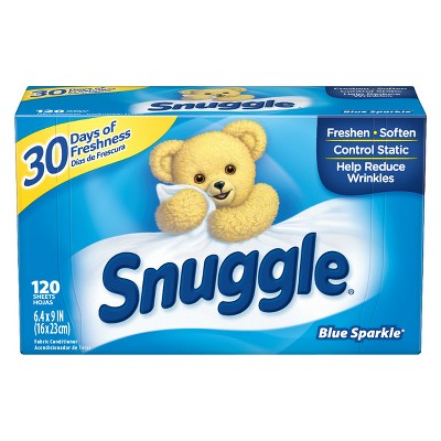 Snuggle Blue Sparkle Fresh Scent Dryer Sheets - 120ct